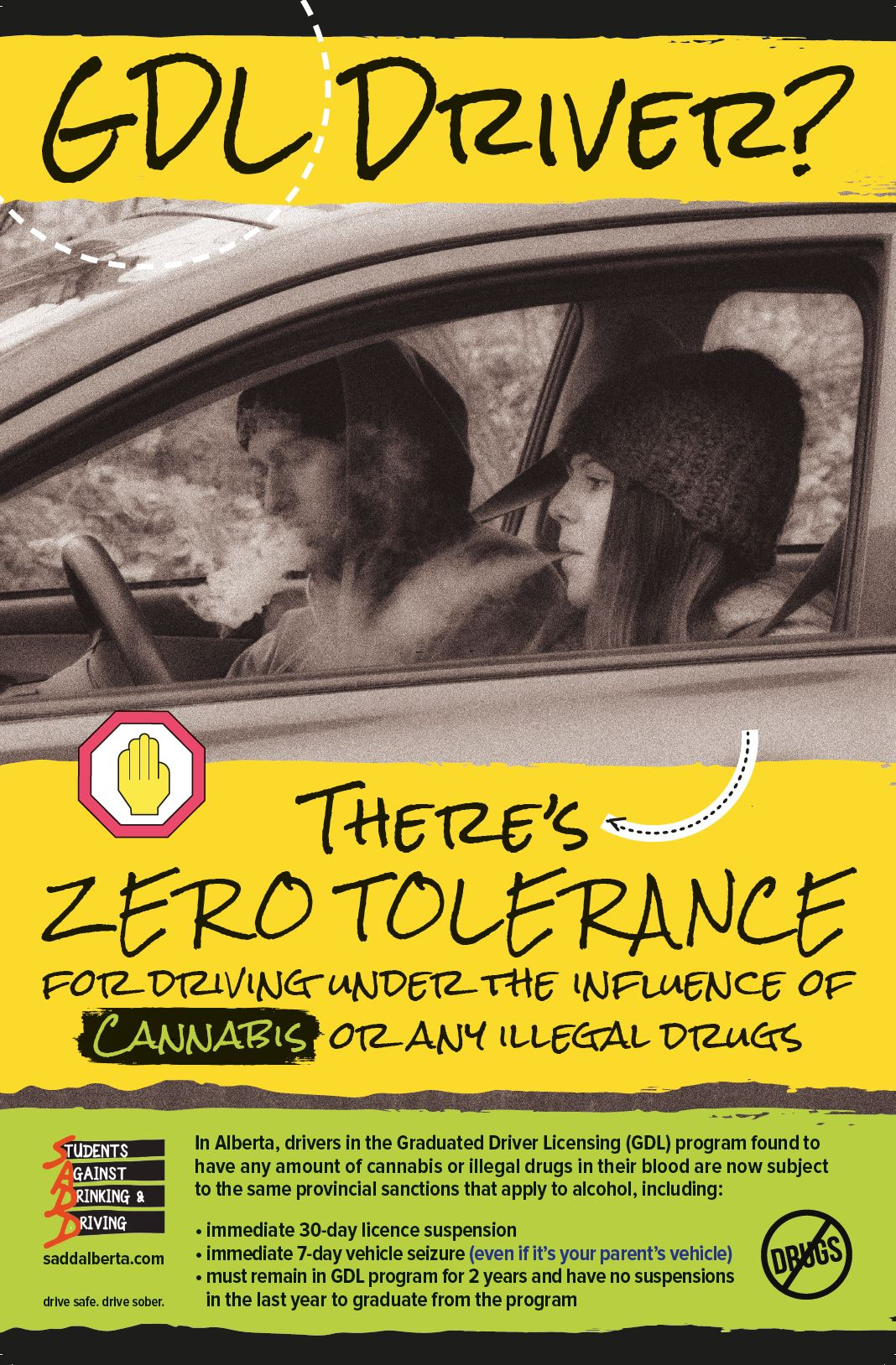GDL Driver - Drugs Poster